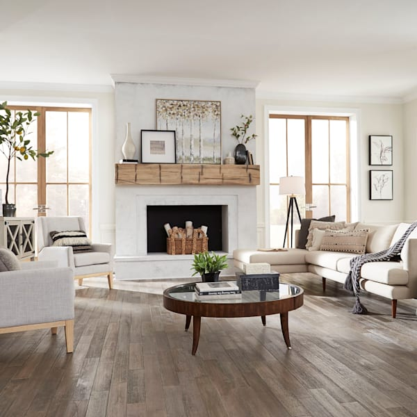 3/4 in. x 3.5 in. Misty Point Distressed Solid Hardwood Flooring