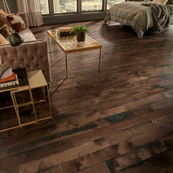 3/4 in. x 5 in. Pioneer Leather Hickory Solid Hardwood Flooring